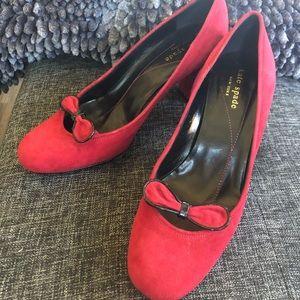 Kate Spade red suede pump